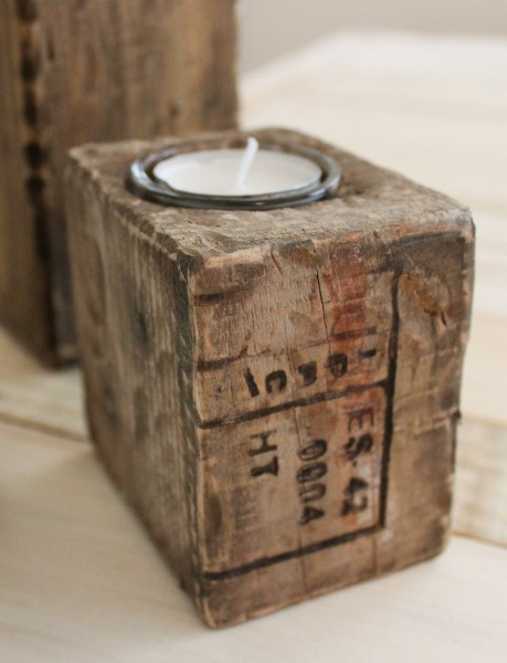 Pallet Blocks - Tealight Holders - Set of Three Kate Arthur 02