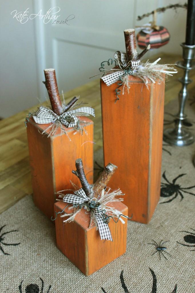Wooden Pallet Pumpkin Blocks Halloween Decorations Kate Arthur