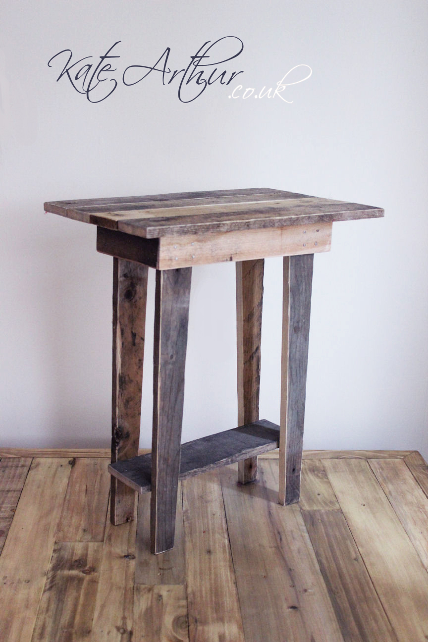 Reclaimed wood furniture side table for Small wood end table