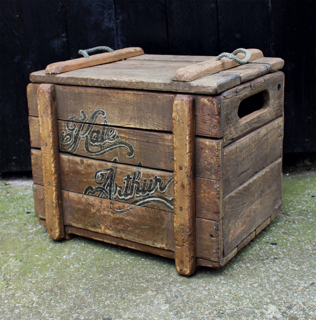 Reclaimed Wooden Crate EDIT