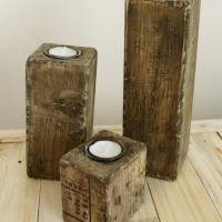 Pallet Blocks - Tealight Holders - Set of Three 2013