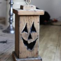 Pallet Wood Pumpkin Lantern 2012