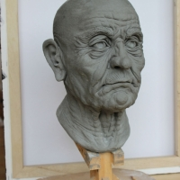 Old Man - Head Sculpture