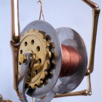 Brass, Aluminium & Wood Spider 3