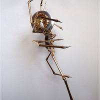 Brass, Aluminium & Wood Spider 2