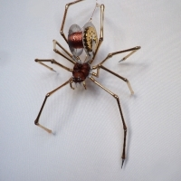 Brass, Aluminium & Wood Spider 1