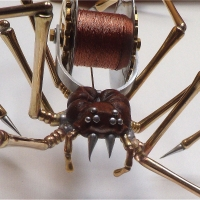Brass, Aluminium & Wood Spider 4