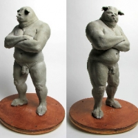 Butcher Pig-man Turnaround 2012 inspired by a Michael Kutsche concept drawing.